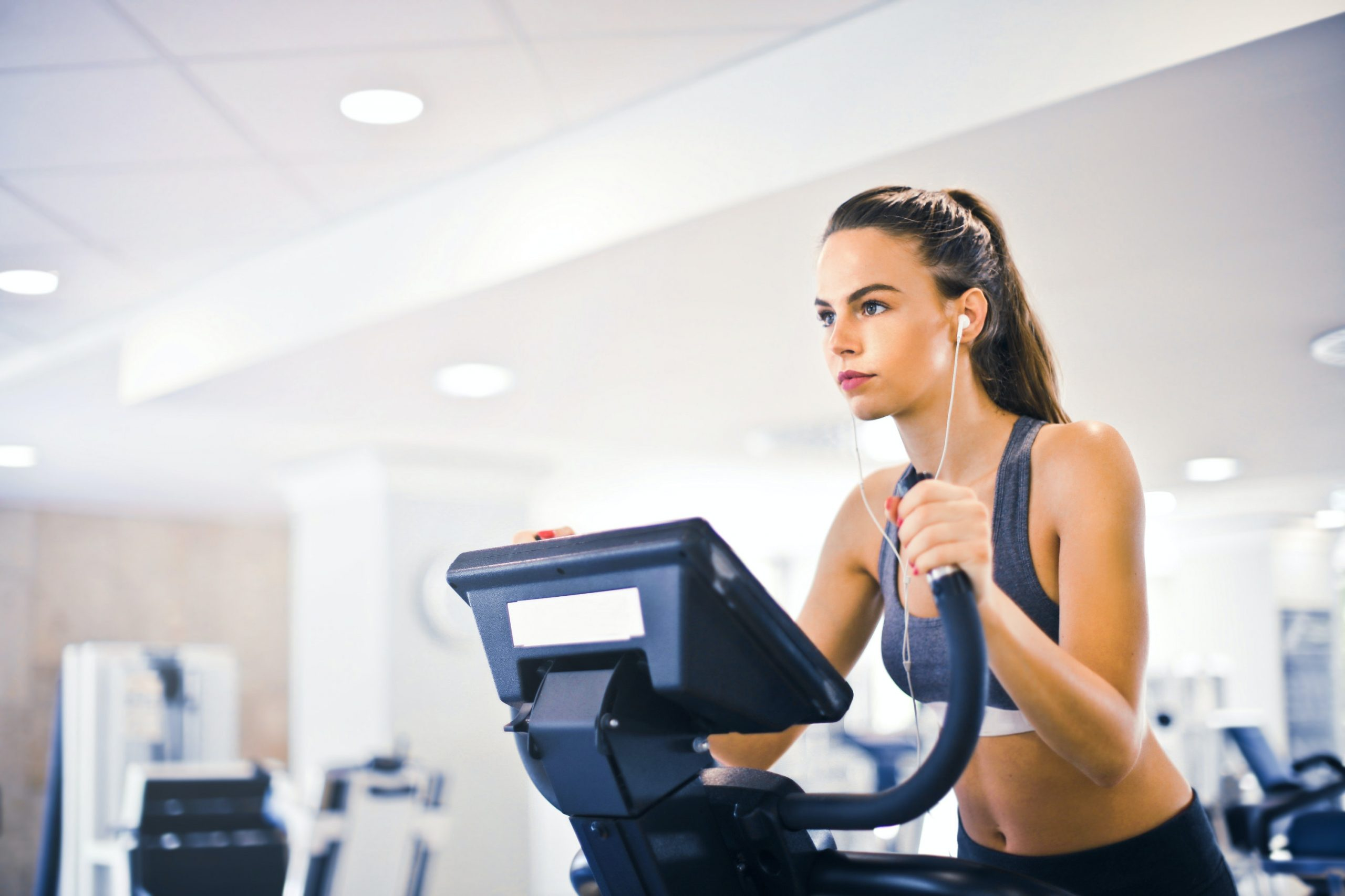 Female exerciseing in gym